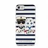 Karl Lagerfeld iPhone 7 Plus / 8 Plus Çizgili Silikon Kılıf - Resim 2