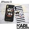 Karl Lagerfeld iPhone X / XS Çizgili Silikon Kılıf - Resim 1