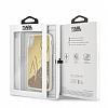 Karl Lagerfeld iPhone X Simli Gold Kılıf - Resim 4