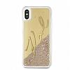 Karl Lagerfeld iPhone X Simli Gold Kılıf - Resim 2