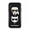 Karl Lagerfeld iPhone X / XS Siyah Deri Rubber Kılıf - Resim 2