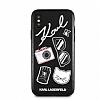 Karl Lagerfeld iPhone X Siyah Karl Deri Rubber Kılıf - Resim 2