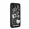 Karl Lagerfeld iPhone X Siyah Karl Deri Rubber Kılıf - Resim 1
