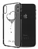 Kingxbar iPhone X Kalpli Siyah Taşlı Kristal Kılıf - Resim 6