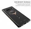 Kingxbar Samsung Galaxy Note 8 Kalpli Siyah Taşlı Kristal Kılıf - Resim 1
