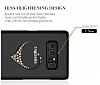 Kingxbar Samsung Galaxy Note 8 Kalpli Siyah Taşlı Kristal Kılıf - Resim 3