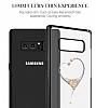 Kingxbar Samsung Galaxy Note 8 Kalpli Siyah Taşlı Kristal Kılıf - Resim 5