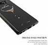 Kingxbar Samsung Galaxy Note 8 Kalpli Siyah Taşlı Kristal Kılıf - Resim 2