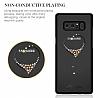 Kingxbar Samsung Galaxy Note 8 Kalpli Siyah Taşlı Kristal Kılıf - Resim 4