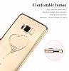 Kingxbar Samsung Galaxy S8 Plus Kalp Taşlı Kristal Kılıf - Resim 1