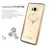 Kingxbar Samsung Galaxy S8 Plus Kalp Taşlı Kristal Kılıf - Resim 4