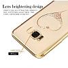 Kingxbar Samsung Galaxy S8 Plus Kalp Taşlı Kristal Kılıf - Resim 3