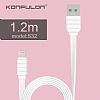 Konfulon S56 Lightning & Micro USB Beyaz Data Kablosu 1,2m - Resim 3