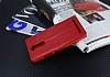 Eiroo Lenovo K5 Note Cüzdanlı Yan Kapaklı Kırmızı Deri Kılıf - Resim 3