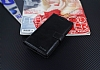 Eiroo Lenovo K5 Note Cüzdanlı Yan Kapaklı Siyah Deri Kılıf - Resim 3