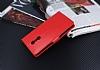 Lenovo K6 Note Cüzdanlı Yan Kapaklı Kırmızı Deri Kılıf - Resim 2