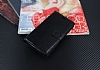 Lenovo K6 Note Cüzdanlı Yan Kapaklı Siyah Deri Kılıf - Resim 1