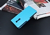 Lenovo K6 Note Cüzdanlı Yan Kapaklı Mavi Deri Kılıf - Resim 2