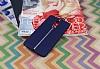 Lenovo K6 Note Kadife Dokulu Lacivert Silikon Kılıf - Resim 1