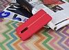 Lenovo K6 Note Kadife Dokulu Kırmızı Silikon Kılıf - Resim 2