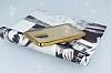 Lenovo K6 Note Simli Parlak Gold Silikon Kılıf - Resim 2