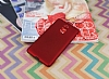 Lenovo K6 Note Tam Kenar Koruma Kırmızı Rubber Kılıf - Resim 1