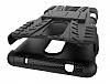 Lenovo K6 Note Ultra Süper Koruma Standlı Siyah Kılıf - Resim 4