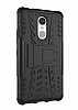Lenovo K6 Note Ultra Süper Koruma Standlı Siyah Kılıf - Resim 1