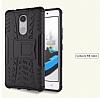 Lenovo K6 Note Ultra Süper Koruma Standlı Siyah Kılıf - Resim 2