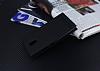 Lenovo P2 Gizli Mıknatıslı Yan Kapaklı Siyah Deri Kılıf - Resim 2