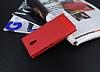 Lenovo P2 Gizli Mıknatıslı Yan Kapaklı Kırmızı Deri Kılıf - Resim 1