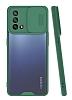 Lens Thin Oppo A74 Kamera Korumalı Koyu Yeşil Silikon Kılıf