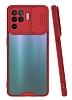 Lens Thin Oppo Reno 5 Lite Kamera Korumalı Kırmızı Silikon Kılıf