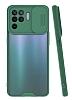 Lens Thin Oppo Reno 5 Lite Kamera Korumalı Yeşil Silikon Kılıf