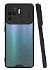 Lens Thin Oppo A94 Kamera Korumalı Siyah Silikon Kılıf