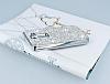 Eiroo Glows LG G2 Taşlı Silver Rubber Kılıf - Resim 2