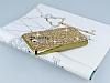 Eiroo Glows LG G2 Taşlı Gold Rubber Kılıf - Resim 2