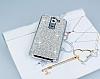 Eiroo Glows LG G2 Taşlı Silver Rubber Kılıf - Resim 1
