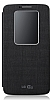 LG G2 Pencereli Orjinal Uyku Modlu Yan Kapakl� Siyah K�l�f
