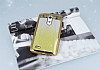 LG G3 Simli Parlak Gold Silikon Kılıf - Resim 1
