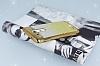 LG G3 Simli Parlak Gold Silikon Kılıf - Resim 2