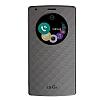 LG G4 Orjinal Uyku Modlu Pencereli Silver Deri Kılıf - Resim 2