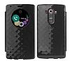 LG G4 Pop Case Snap Orjinal Uyku Modlu Pencereli Siyah Kılıf - Resim 1