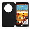 LG G4 Stylus Pencereli İnce Yan Kapaklı Siyah Kılıf - Resim 1