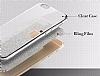 LG G4 Stylus Simli Rose Gold Silikon Kılıf - Resim 3