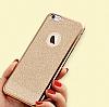 LG G4 Stylus Simli Rose Gold Silikon Kılıf - Resim 2