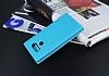 LG G6 Gizli Mıknatıslı Çerçeveli Mavi Deri Kılıf - Resim 1