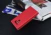 LG G6 Gizli Mıknatıslı Çerçeveli Kırmızı Deri Kılıf - Resim 1