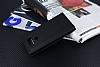 LG G6 Gizli Mıknatıslı Çerçeveli Siyah Deri Kılıf - Resim 1