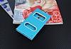 LG G6 Gizli Mıknatıslı Çerçeveli Mavi Deri Kılıf - Resim 2